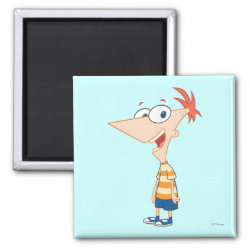 Square Magnet with Phineas Flynn design