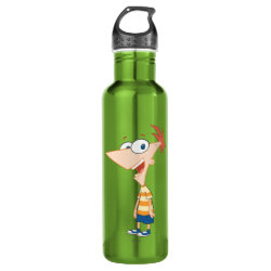 Water Bottle (24 oz) with Phineas Flynn design
