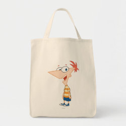 Grocery Tote with Phineas Flynn design