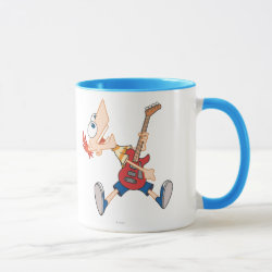 Combo Mug with Rock 'n Roll with Phineas Flynn and Guitar design