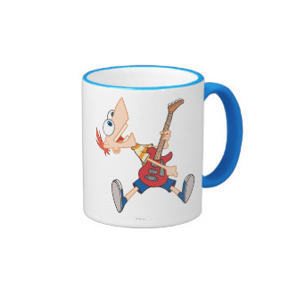 Phineas Rocking Out with Guitar Ringer Mug