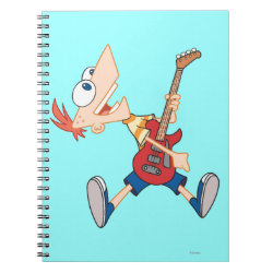 Photo Notebook (6.5' x 8.75', 80 Pages B&W) with Rock 'n Roll with Phineas Flynn and Guitar design