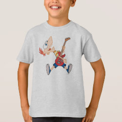 Kids' Hanes TAGLESS® T-Shirt with Rock 'n Roll with Phineas Flynn and Guitar design