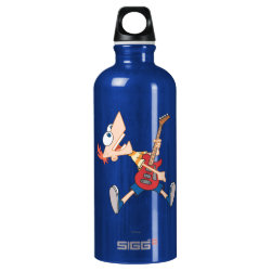 SIGG Traveller Water Bottle (0.6L) with Rock 'n Roll with Phineas Flynn and Guitar design