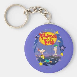 Phineas y Ferb 1 Llavero Redondo Tipo Pin