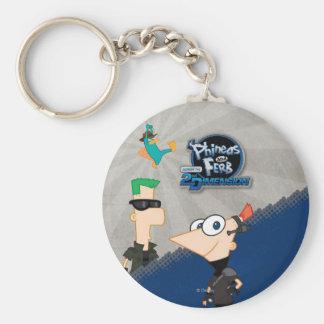 Phineas y Ferb - 2.o Llavero Redondo Tipo Pin