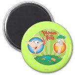 Phineas y Ferb Imán Para Frigorifico