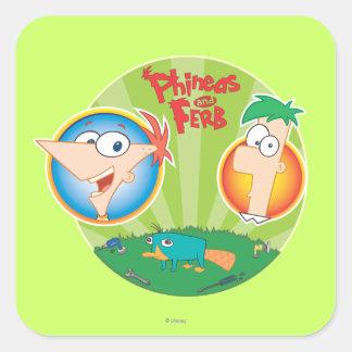 Phineas y Ferb Etiqueta