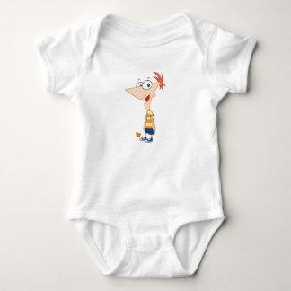 Phineas y Ferb Phineas Disney sonriente Body Para Bebé