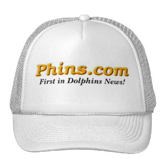 ¡Phins.com, primero en noticias de los delfínes! Gorras De Camionero