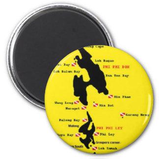 PhiPhi Dive Sites - Big 2 Inch Round Magnet