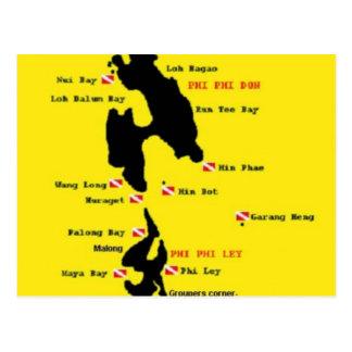 PhiPhi Dive Sites - Big Postcard