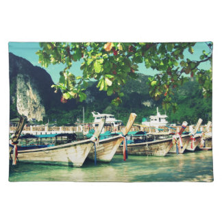 Phiphi Island boats Cloth Placemat