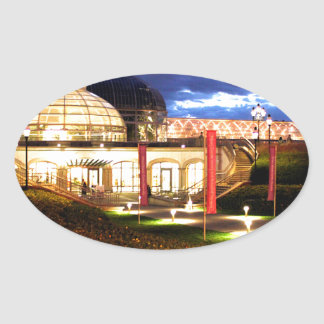 Phipps Conservatory at Night Oval Sticker