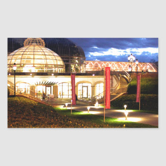 Phipps Conservatory at Night Rectangular Sticker