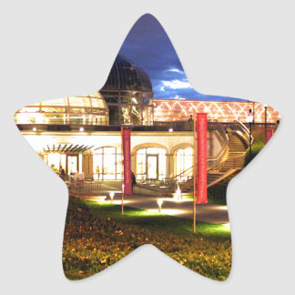 Phipps Conservatory at Night Star Sticker