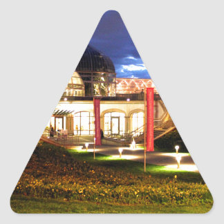Phipps Conservatory at Night Triangle Sticker