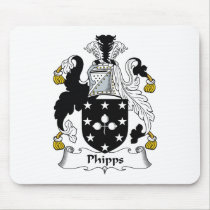Phipps Family Crest Mousepad
