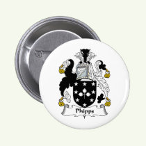 Phipps Family Crest Button