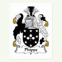 Phipps Family Crest Postcard