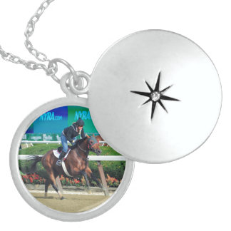 Phipps Stables at Belmont Park Round Locket Necklace