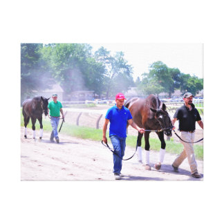 Phipps Thoroughbreds at Saratoga Gallery Wrap Canvas