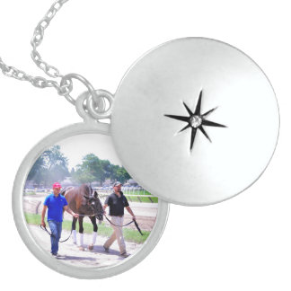 Phipps Thoroughbreds at Saratoga Round Locket Necklace