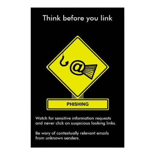 Phishing Security Awareness Poster