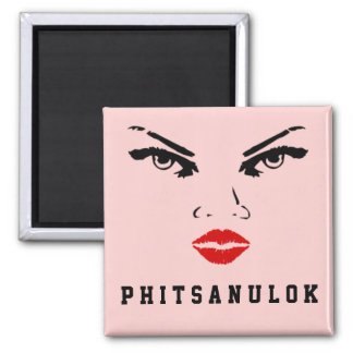 Phitsanulok, Thailand Woman 2 Inch Square Magnet