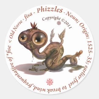 Phizzles Origin Classic Round Sticker