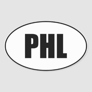 PHL Oval Stickers