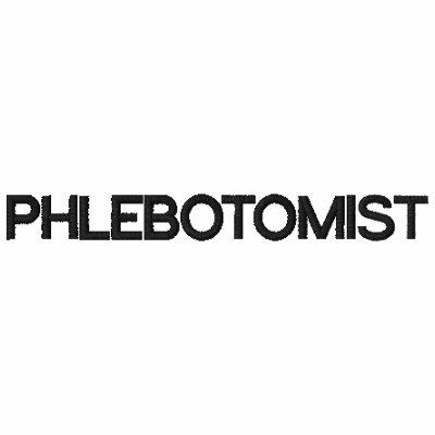 PHLEBOTOMIST AKA VAMPIRE - EMBROIDERED SHIRT