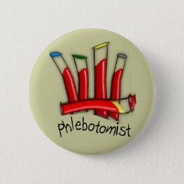 Phlebotomist Artsy Blood Tubes Design Gifts Button