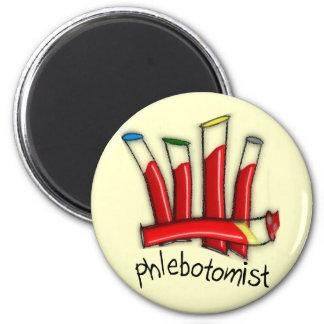 Phlebotomist Artsy Blood Tubes Design Gifts Magnet