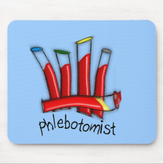 Phlebotomist Artsy Blood Tubes Design Gifts Mouse Pad