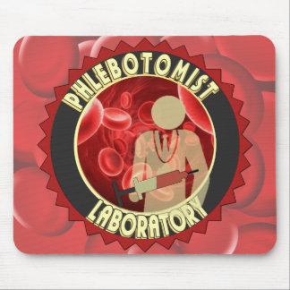 PHLEBOTOMIST BLOOD LOGO MOUSE PAD