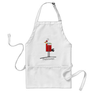 "Phlebotomist ""Blood Tube Bird"" Gifts Adult Apron"