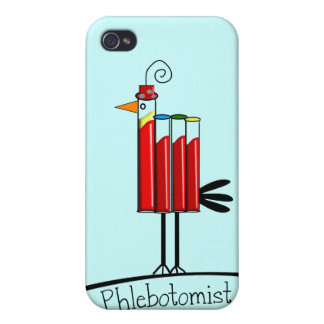 "Phlebotomist ""Blood Tube Bird"" Gifts Cover For iPhone 4"