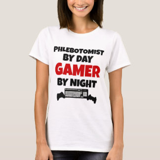 Phlebotomist by Day Gamer by Night T-Shirt