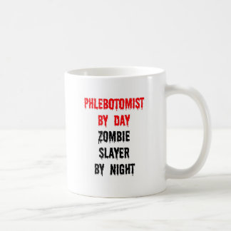 Phlebotomist by Day Zombie Slayer by Night Classic White Coffee Mug