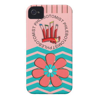 Phlebotomist Chevron Design iPhone 4 Cover