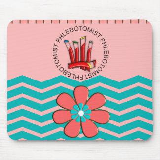Phlebotomist Chevron Design Mouse Pad