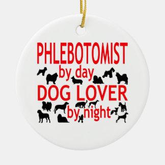 Phlebotomist Dog Lover Ceramic Ornament