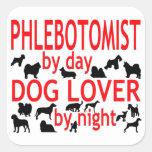 Phlebotomist Dog Lover Sticker