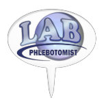 PHLEBOTOMIST Fun Blue LOGO Cake Toppers