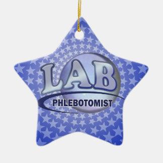 PHLEBOTOMIST Fun Blue LOGO Ceramic Ornament