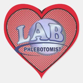 PHLEBOTOMIST Fun Blue LOGO Heart Sticker