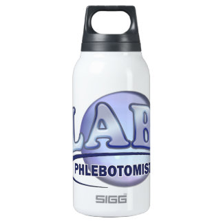 PHLEBOTOMIST Fun Blue LOGO Insulated Water Bottle