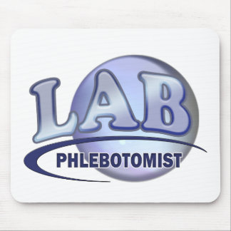 PHLEBOTOMIST Fun Blue LOGO Mouse Pad