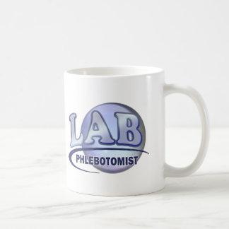 PHLEBOTOMIST Fun Blue LOGO Classic White Coffee Mug